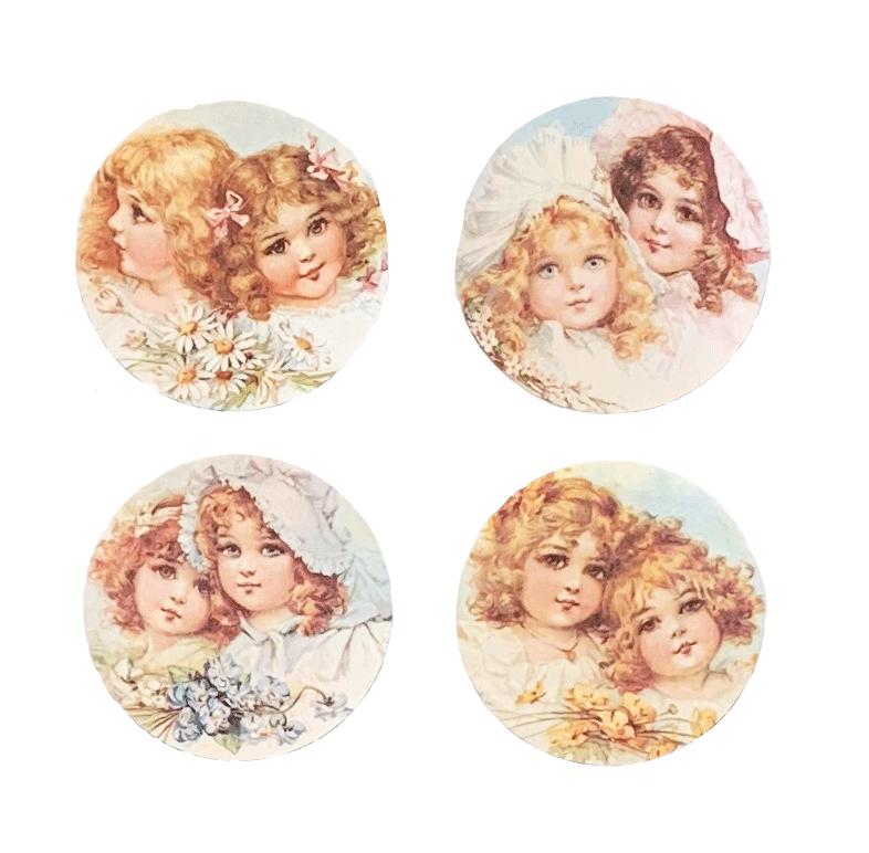 Bonnet Girls Flowers Mirror
