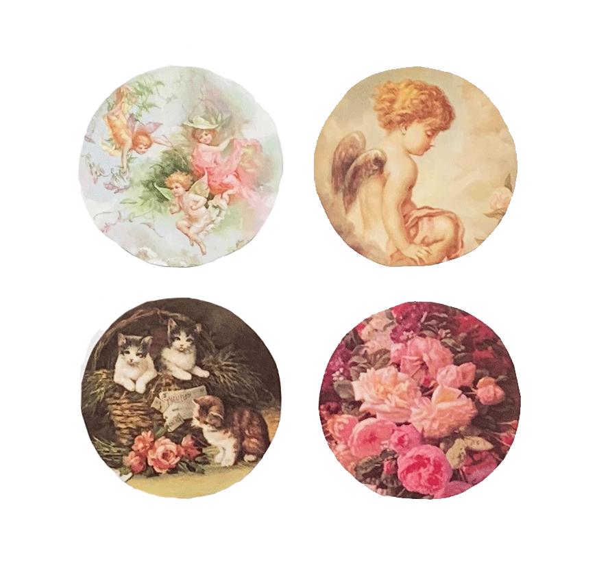 Roses Kittens Fairies Mirror