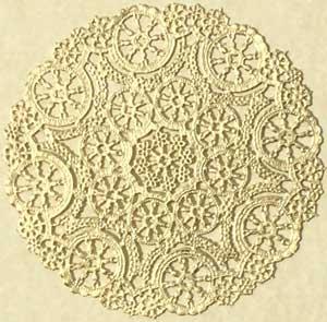 Gold Metallic Foil Medallion Paper Lace Doilies