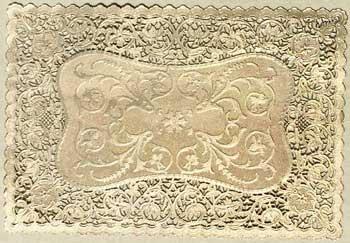 Bobbin Lace Gold Paper Lace Placemats