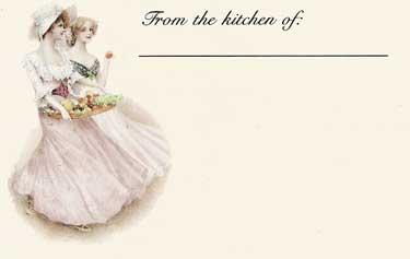 Victorian Ladies Recipe Cards