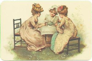 Tea Party Verse Card