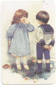 Boy & Girl Verse Card